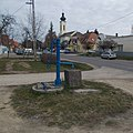 Water well, police station and R.C.Church, 2019 Isaszeg.jpg