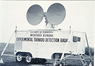 Doppler radar - The US Weather Bureau's first experimental Doppler weather radar unit was obtained from the US Navy in the 1950s