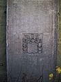 Werl, Hilbeck, Evangelische Kirche, Grabplatte an der Kirche.jpg