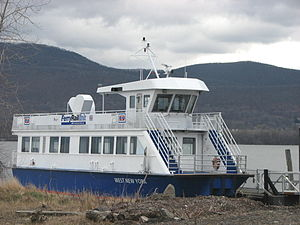 West New York, New Jersey - This New York Waterway ferry named West New York is not used on the routes which serve the town.