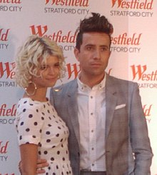 Westfield Stratford Press Launch Pixie Geldof, Nick Grimshaw (6143729212) cropped.jpg
