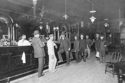 The White Eagle Saloon (c. 1910), one of many in Portland that had reputed ties to illegal activities such as gambling rackets and prostitution White Eagle Portland.jpg