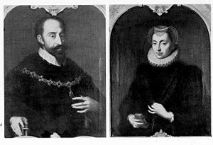 William V, Duke of Bavaria - William V, Duke of Bavaria and his wife, Renata of Lorraine
