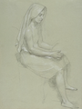 William-Adolphe Bouguereau (1825-1905) - Study of a Seated Veiled Female Figure (19th Century).png