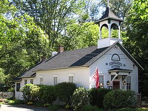 Cannondale Historic District - 1872 Cannondale School building, housing a restaurant