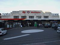 Wimbledon station main entrance