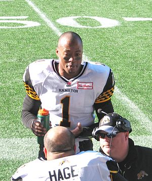 Henry Burris - Burris in Winnipeg on November 2, 2013.