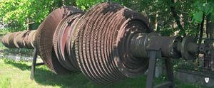 Parsons Marine Steam Turbine Company - The rotating blade assembly of a marine Parsons turbine