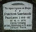 Witkowo Cemetery, Wielkopolskie Uprising tomb Franciszek Swierkowski.jpg