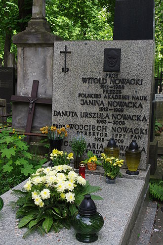 Witold Nowacki - The grave of Witold Nowacki in Warsaw
