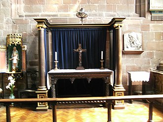 William Laud - Altar, c. 1635, the centre of dispute between Puritans and Laudians, possibly consecrated by Laud himself