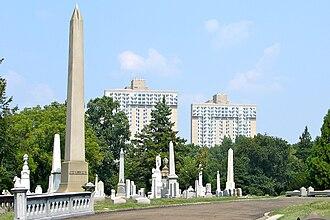 The Woodlands (Philadelphia) - Looking east toward the University of Pennsylvania