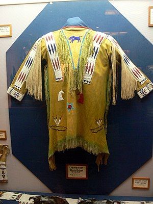 Cheyenne - Cheyenne beaded hide shirt, Woolaroc