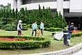 Workers Cleaning Front Front Count of Taipei City Council 20160422.jpg