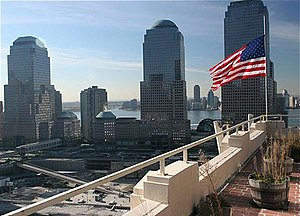 Ground zero - The World Trade Center site, as it appeared in October 2004.