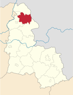 Raion location in سومی اوبلاست