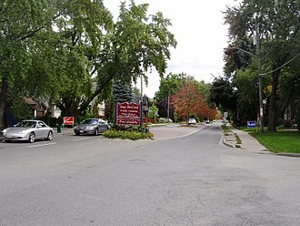 Bedford Park, Toronto - View of a residential street in Bedford Park. More than half of Bedford Park residents stated they were a third-generation Canadian or higher in the Canada 2011 Census.