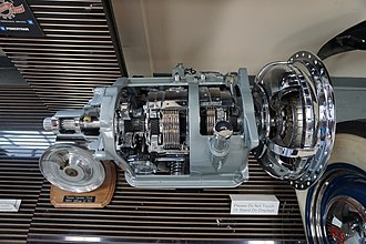 Hydramatic - A Hydra-Matic Drive transmission, produced between 1939 and 1956, on display at the Ypsilanti Automotive Heritage Museum