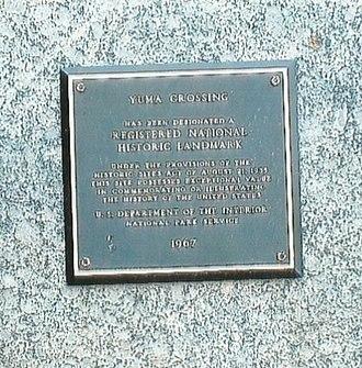 Yuma Crossing - Yuma Crossing Marker