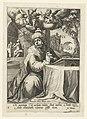 Zacheüs als berouwvolle zondaar Acht berouwvolle zondaars uit het Oude en Nieuwe Testament (serietitel), RP-P-1877-A-348.jpg