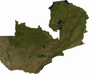 Geography of Zambia - Image: Zambia sat