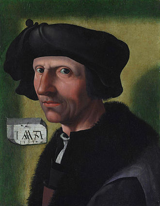 Jacob Cornelisz van Oostsanen - Jacob Cornelisz van Oostsanen, Self-portrait, 1533