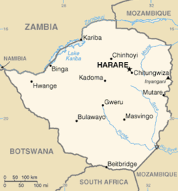 Map Of Africa Zimbabwe.Geography Of Zimbabwe Wikipedia