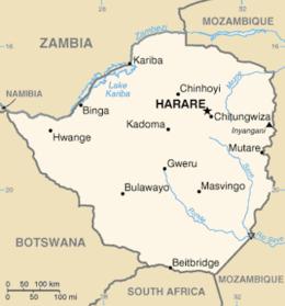 Zimbabwe - Mappa
