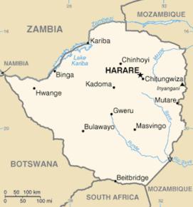 kart over zimbabwe Zimbabwe – Wikipedia kart over zimbabwe