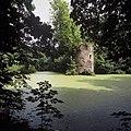 Zicht op de ruïne, gezien vanaf de overzijde van de vijver - Brakel - 20424034 - RCE.jpg