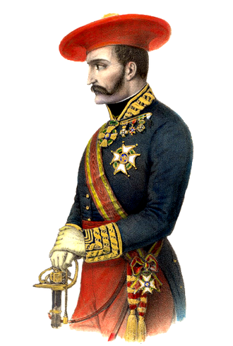 Tomás de Zumalacárregui - Zumalacárregui dressed in military uniform, 1845.