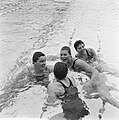 Zweminterland Nederland tegen Engeland te Groningen, Nederlandse dames 4x 100 me, Bestanddeelnr 916-5943.jpg