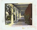"""Solana,"" Frederick Forrest Peabody house, Eucalyptus Hill Road, Montecito, California. Court arcade LCCN2008680095.jpg"