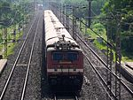 Falaknuma Express at Kolaghat, West Bengal hauled by SRC WAP-4 loco