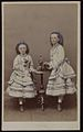 (Portrait of two girls with blue bows in their hair, Melbourne, Victoria, 1860s) A. McDonald (15909316736).jpg