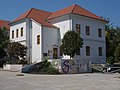 Ádám Würtz elementary school. Listed ID -3520. South wing. Economic entrance. - Szabadság street, Tamási, Hungary.JPG
