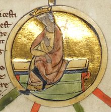 13th century depiction of Æthelwulf