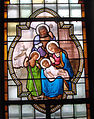 Église Saint-Nicolas, L'Hôpital, vitrail sacristie Nord.jpg