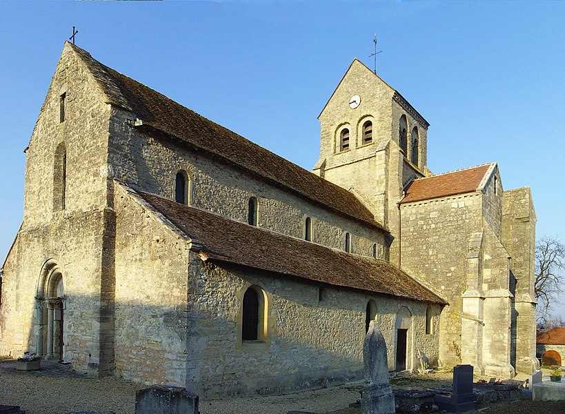 The church in Rosnay (Marne, France)