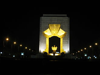 Vietnam War Memorial, Hanoi - War Memorial in central Hanoi at night