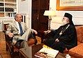 Συνάντηση ΥΠΕΞ Δ. Αβραμόπουλου με τον Πατριάρχη Αλεξανδρείας Θεόδωρο Β΄ (7542453382).jpg