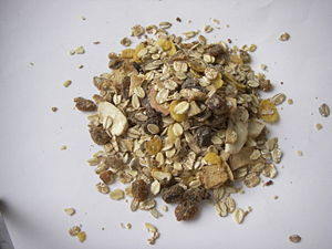 Muesli - Raw, packaged muesli ingredients