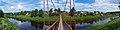 Панорама села и реки Оять с подвесного моста.JPG