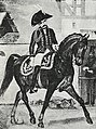 Рисунок к статье «Конно-егеря». Конно-егерский офицер, с 1792 по 1796 год. ВЭС (СПб, 1911-1915).jpg