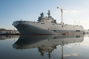 Chantiers de l'Atlantique - Russian amphibious assault ship Sevastopol awaiting delivery, December 2014
