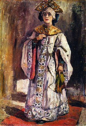 Tsarevna - A tsarevna. Painting by Vasily Surikov, 19th century