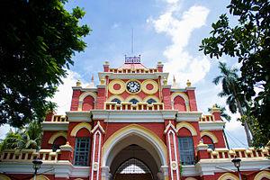 Uttara Ganabhaban - Clocktower gate at the Uttara Gonobhaban