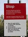 -2018-10-09 Stop sign, Antingham Hill Level Crossing, Antingham, Norfolk (1).JPG