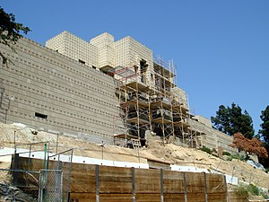 Ennis House - During restoration, May 2007