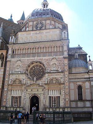 North-Western Italian architecture - The Colleoni Chapel in Bergamo.